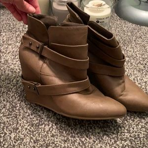 brown booties! Size 8